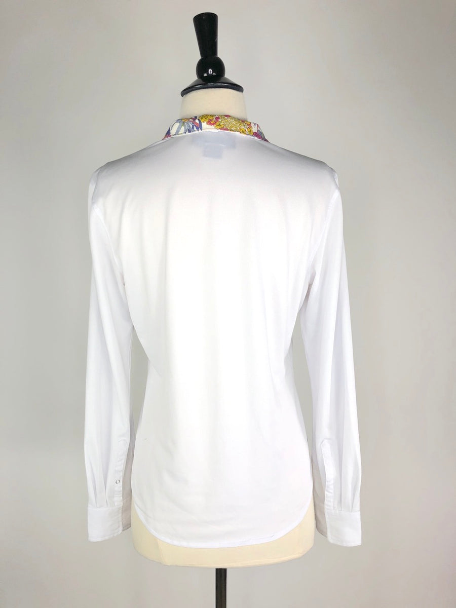 Ariat Triumph Liberty Show Shirt in White/Multi- Back View