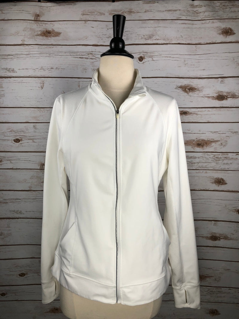 Lucy Tech Zip Jacket in White - Women's Medium