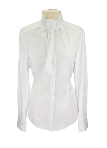 front view of Asmar Equestrian Monaco Show Shirt in White
