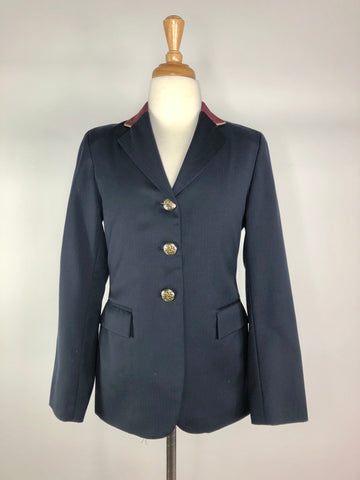 The Elite Hunt Coat in Navy/Maroon Collar - Children's 12T | M