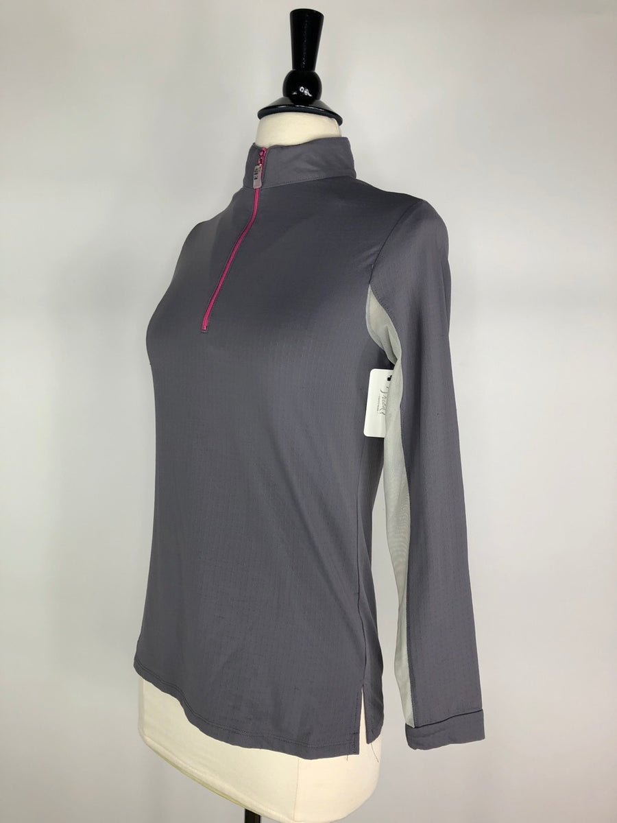 EIS Two Toned Cool Shirt in Grey/Pink - Women's S