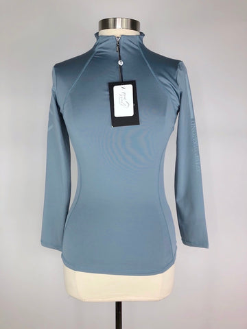 Aztec Diamond Technical Stretch Base Layer in Blue- Front View