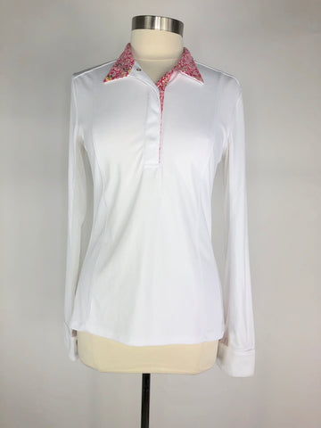 FITS Shade Show Shirt in White/Pink Floral -  Front View