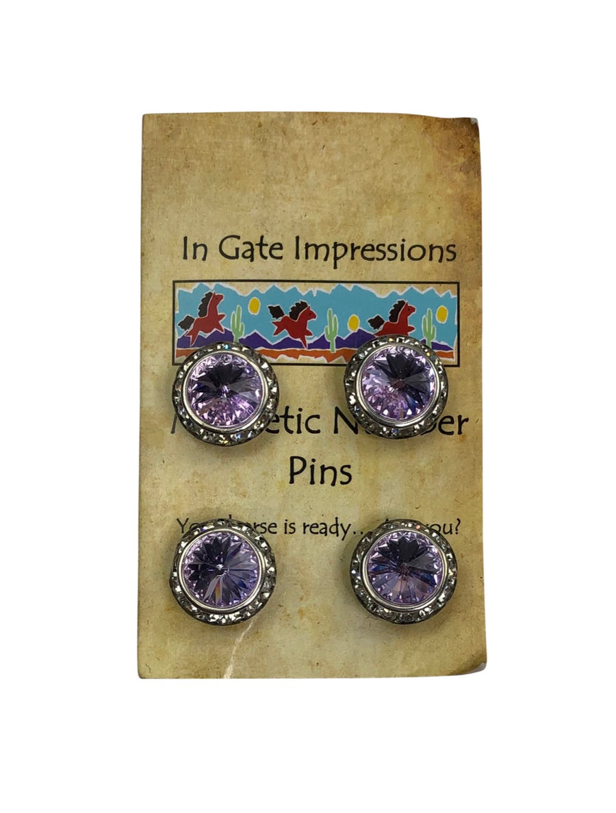 front view of In Gate Impressions Magnetic Number Pins in Violet