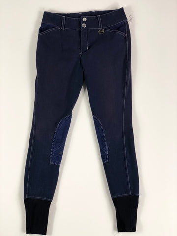 Equine Couture Sportif Natasha Breeches in Navy -  Front View