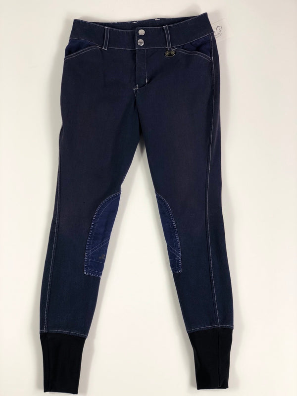 Equine Couture Sportif Natasha Breeches in Navy - Children's 12