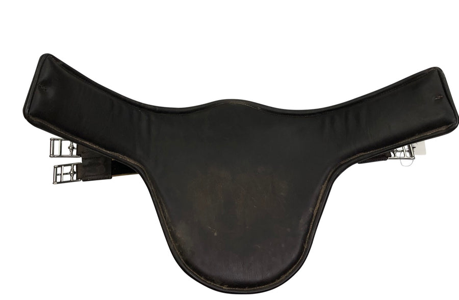 back view of Belly Guard Girth in Dark Brown