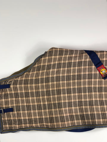 Baker Sheet in Baker Plaid- Front Clasp View