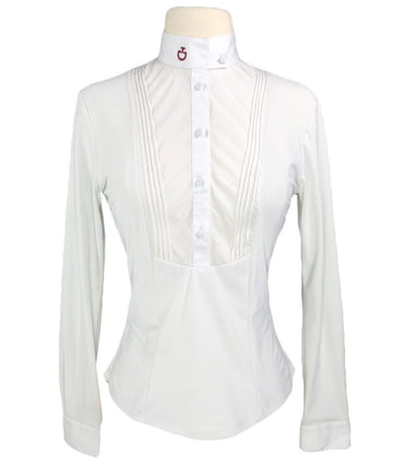 Cavalleria Toscana Technical Long Sleeve Shirt with Bib in White - Women's XS