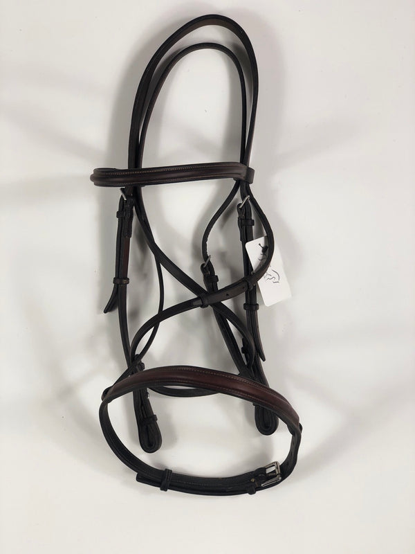 Edgewood Plain Raised Bridle in Oiled Newmarket - Horse Size