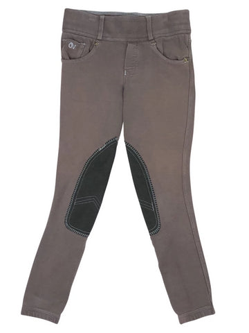 Ovation Horseshoe Jean Tights in Brown - Children's M