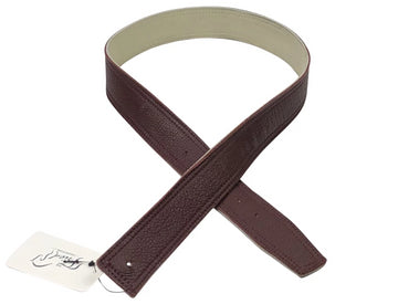 Mane Jane Reversible Belt Leather in Burgundy and cream