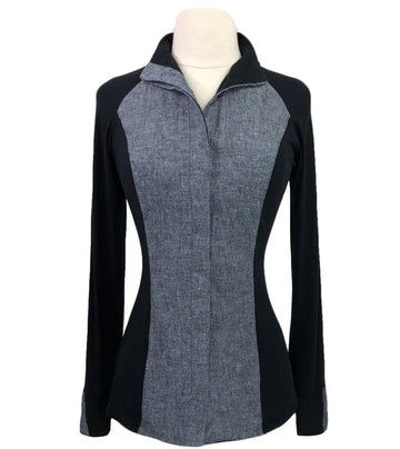 Street & Saddle Showstopper Shirt in Black/Grey Chambray - Women's XS