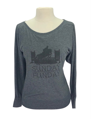 front view of EQUO 'Sunday Funday' Competition Coverup in Grey