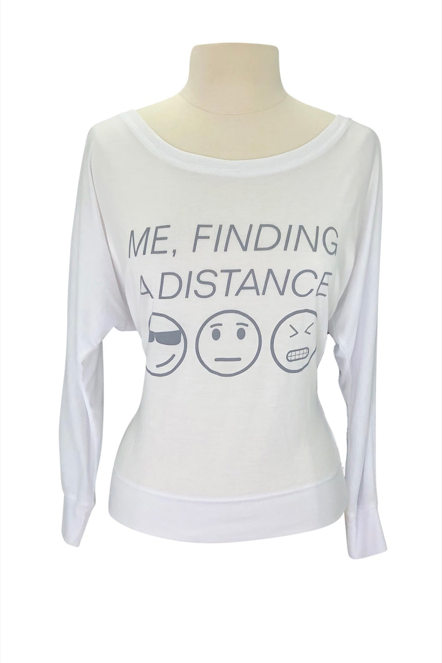 front view of 'Finding a Distance' Competition Coverup in White