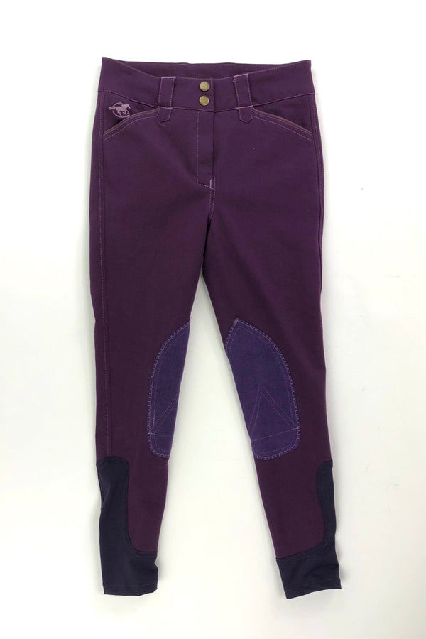 SmartPak Piper Breeches in Purple Shadow/Aubergine - Children's 12