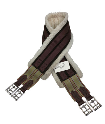 Ovation Fleece Lined Equalizer Girth in Brown folded over
