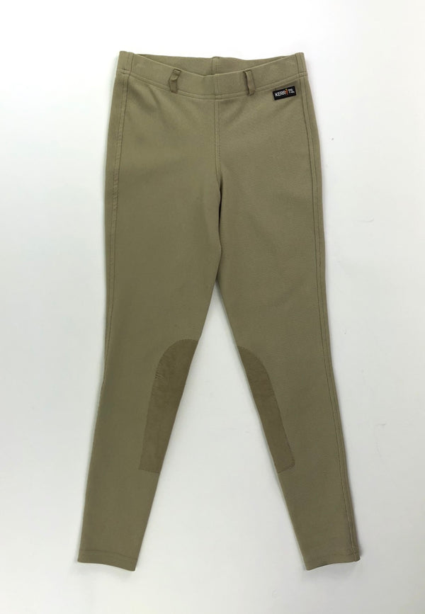 Kerrits Microcord Knee Patch Breeches in Tan - Children's Large
