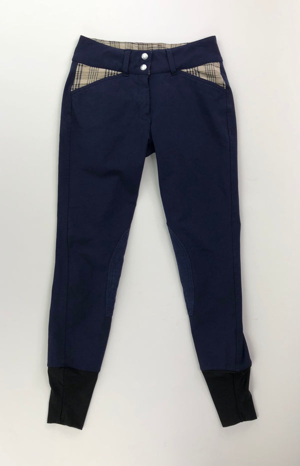 Equine Couture Baker Elite Knee Patch Breeches in Navy - Women's 24