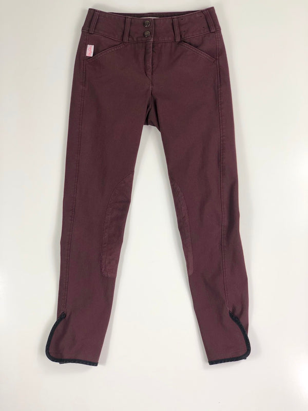 Tailored Sportsman Trophy Hunter Breeches in Bordeaux - Women's 22R