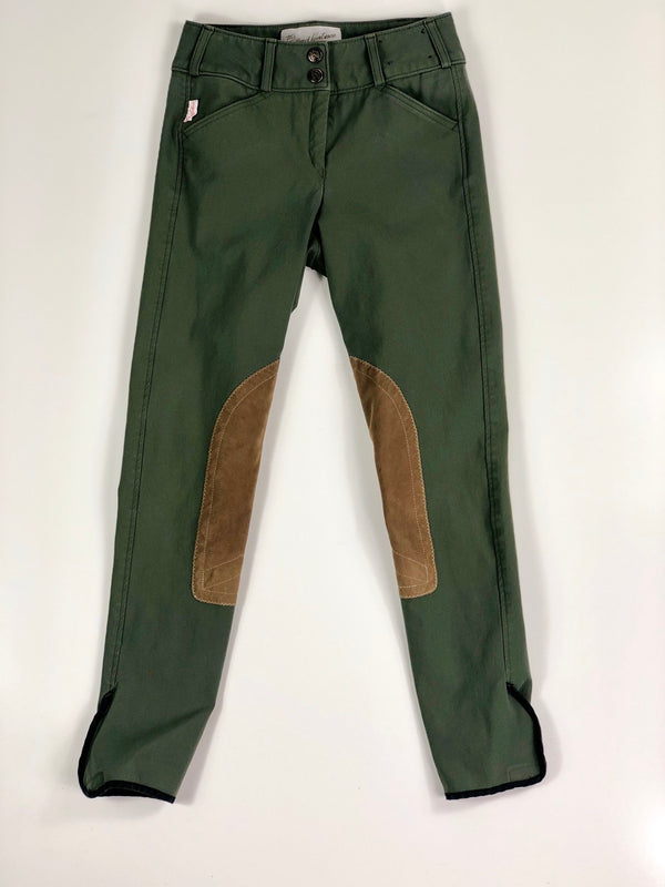 Tailored Sportsman Trophy Hunter Breeches in Loden Green/Tan Patch - Women's 22R