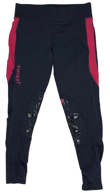 Loveson Riding Leggings in Navy and Pink