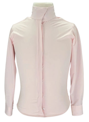 RJ Classics Prestige Stretch Show Shirt in Pink with buttoned up collar