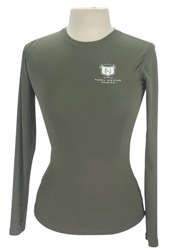 Asmar Equestrian long-sleeved Tee in Olive with logo on chest