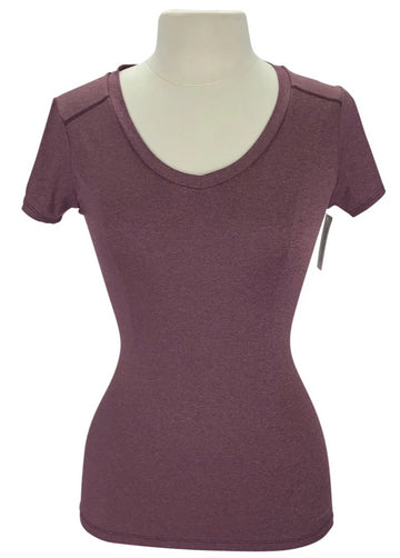 Noble Outfitters Karleigh V-Neck in Wine Heather