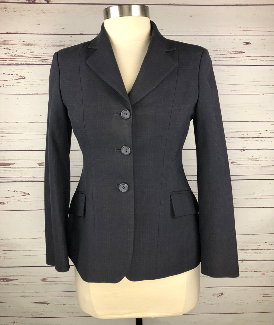 RJ Classics Essential Collection Hunt Coat in Navy Plaid -  Front View