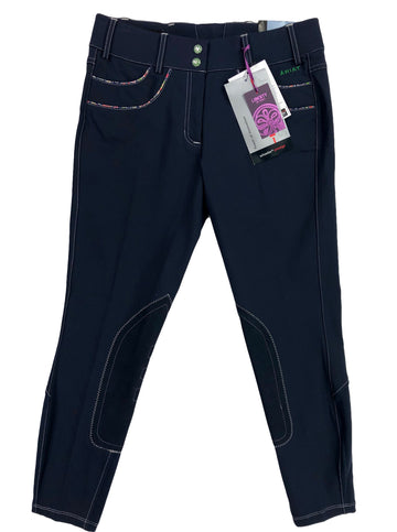 Ariat Olympia Acclaim Low Rise Knee Patch Breeches in Navy Liberty - Women's 30R | M/L