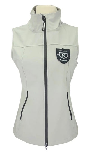 Noel Asmar Fitted Vest in Light Grey with logo on chest