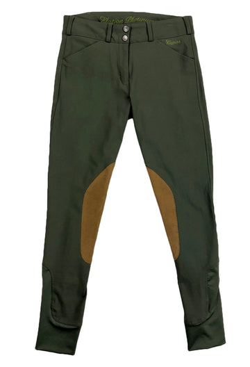Elation Platinum Chelsea Tailored Breeches in Olive - Women's 26R | S