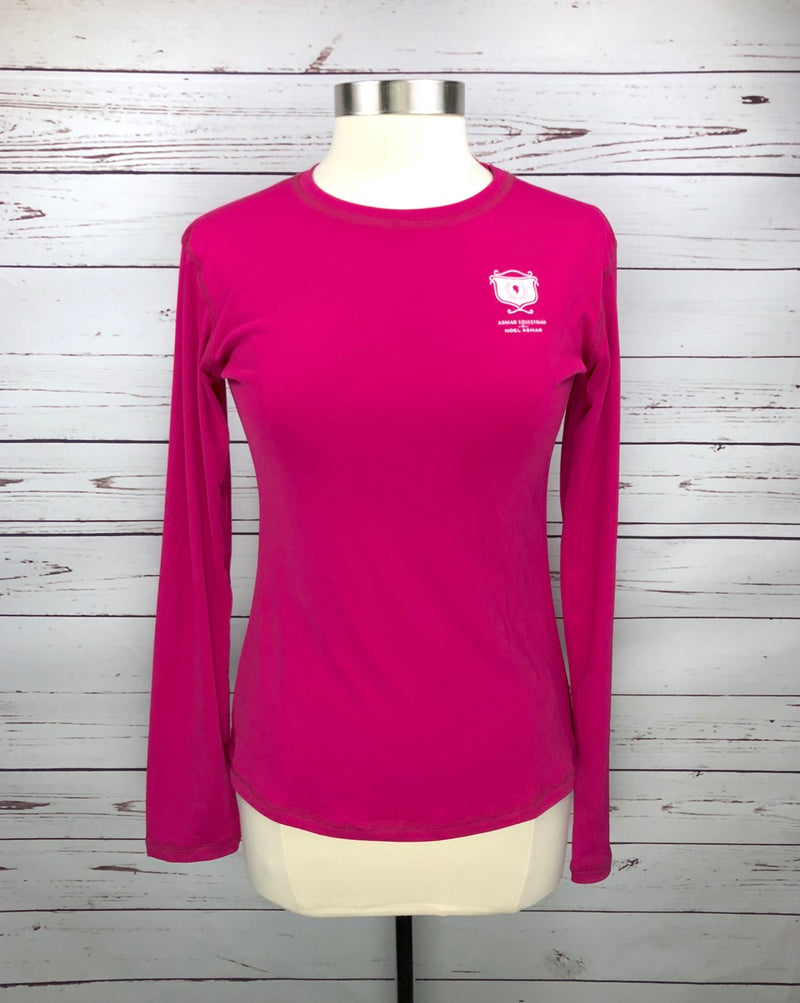Asmar Equestrian Logo Long Sleeve Tee in Hot Pink - Women's Large