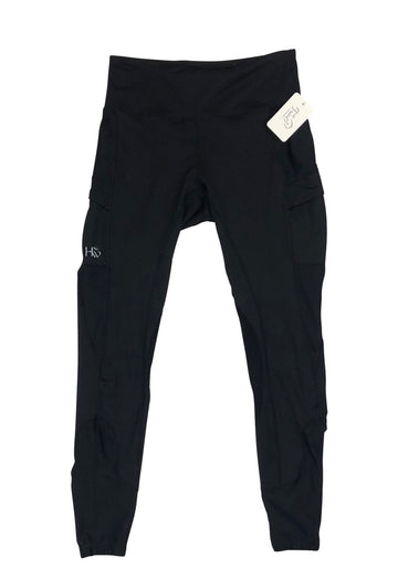 Horseware Riding Tights in Black with right pocket logo
