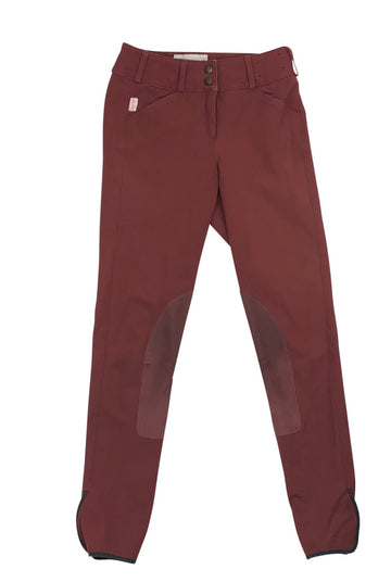 Front of Tailored Sportsman Trophy Hunter Breeches in Redwood