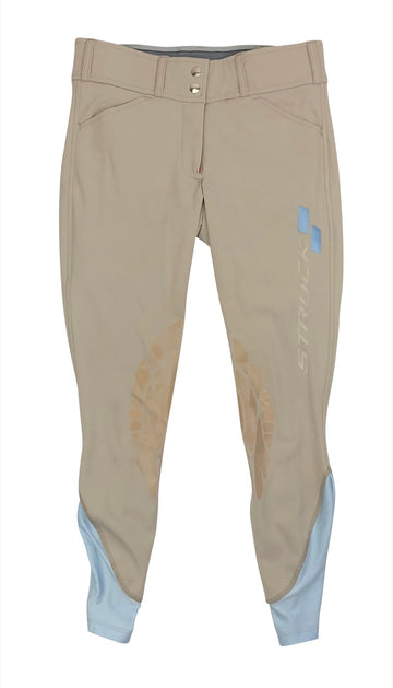 Struck Apparel Breeches in Tan with logo on left leg