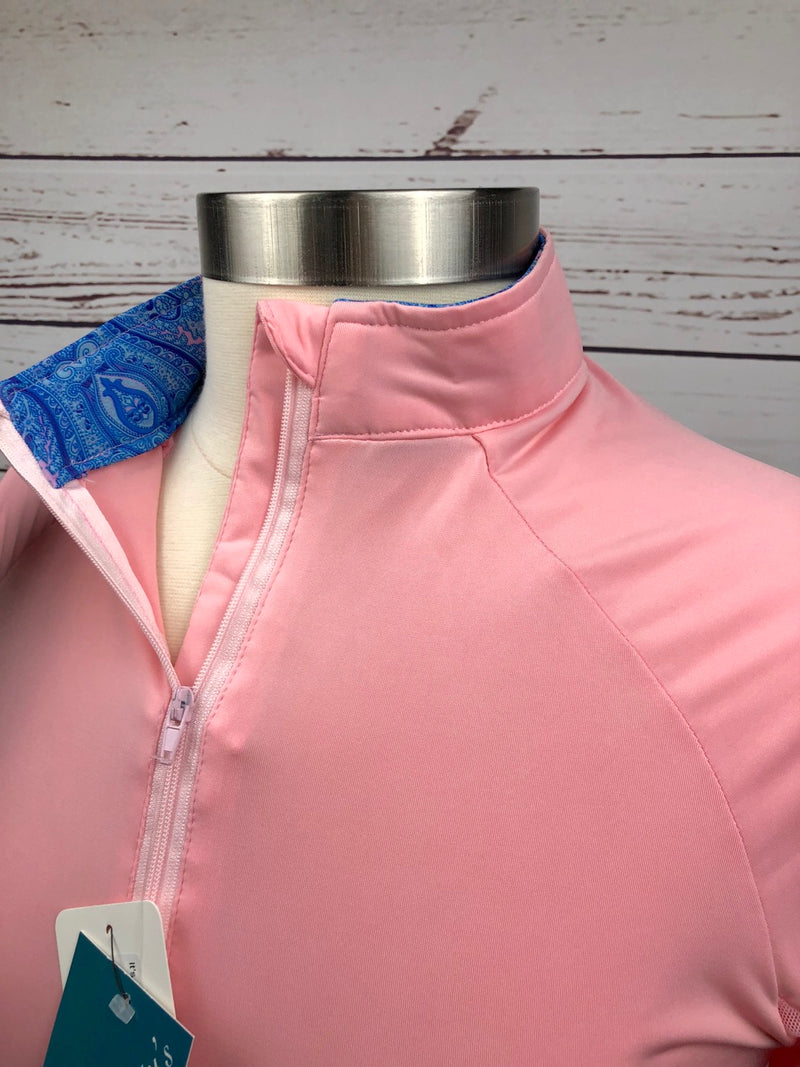 It's a Haggerty's Sun Shirt in Pink/Blue Paisley  - Women's Small