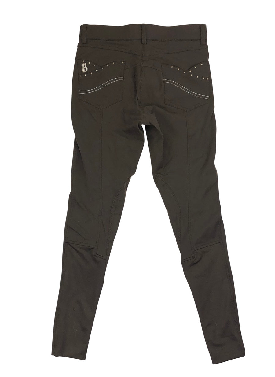 Back of B Vertigo Olivia Girls Breeches in Brown