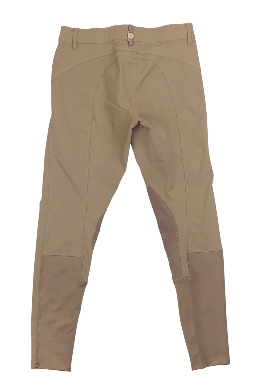Back of B Vertigo Melissa Knee Patch Breeches in Taupe