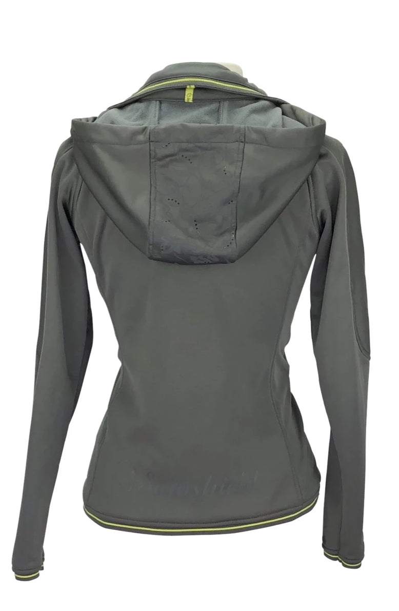 Back of Samshield Limited Edition Sweatshirt in Grey with hood