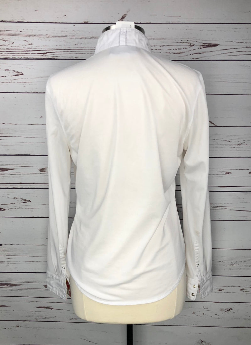 Ariat Triumph Liberty Show Shirt in White/Floral - Women's US 40