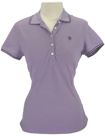 Ariat Short Sleeve Prix Polo in Purple