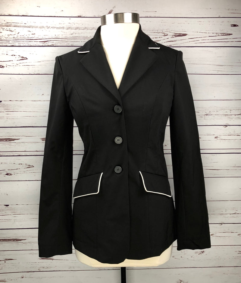 Asmar Equestrian Wellington Show Jacket in Black - Women's Small