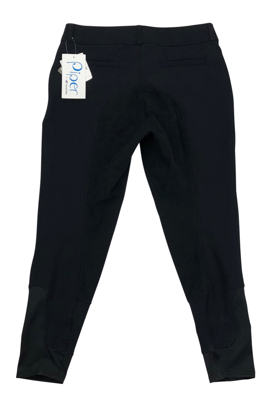 Back view SmartPak Piper Softshell Full Seat Winter Breeches in Black