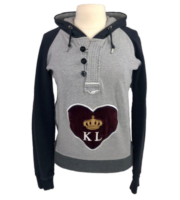 Kingsland Madera Hoodie in Grey/Navy - Women's XS