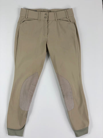 Ariat Heritage Elite Knee Patch Breeches in Tan- Front View