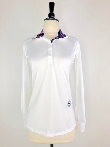 Essex Classics Talent Yarn Show Shirt in White/Hearts - Women's S