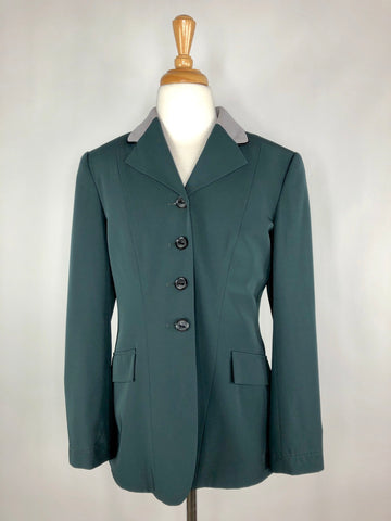 Grand Prix TechLite Show Jacket in Hunter Green/Grey - Front View