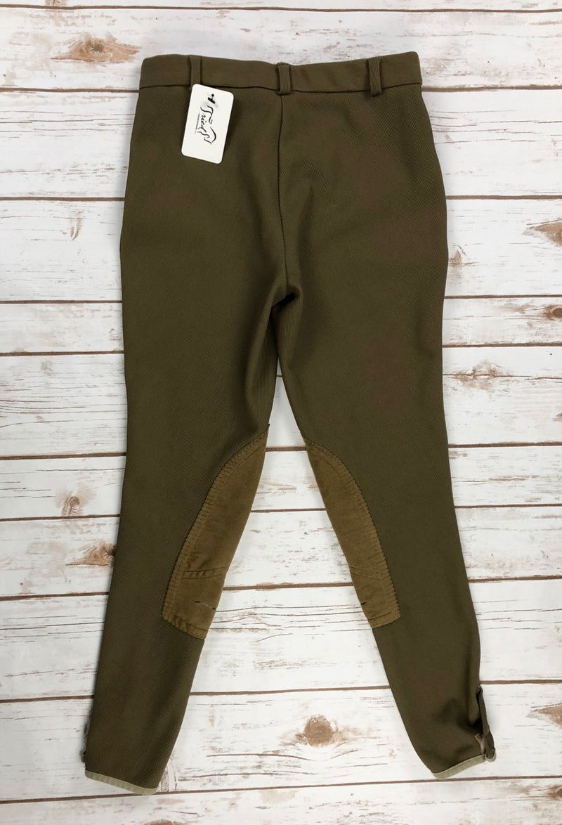 TuffRider Ribb Knee Patch Breeches in Taupe - Children's 14